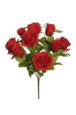 Immagine di Bush rose, 9 fiori,  rosso, H43 cm