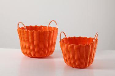 Immagine di S/2 Cestini tondi alti arancio 20x20xh14,23x23xh16