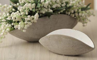 Picture of Ciotola minimal, cemento, piccola, tortora, 21.5x9xH8cm