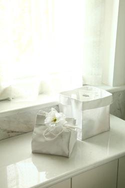 Picture of Contenitore SQUARE,bianco, tessuto,18,5x18,5xH18,5cm