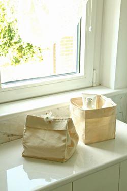 Immagine di Contenitore SQUARE,naturale, tessuto,20,5x20,5xH20,5cm