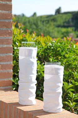 Immagine di Contenitore TUBE,bianco, tessuto,D11xH31cm