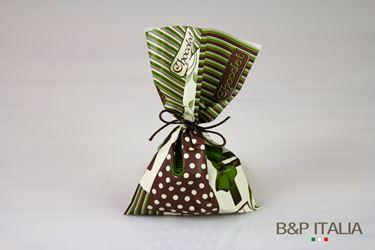 Immagine di Sacchetti 15x25 PL CHOCO verde/marrone