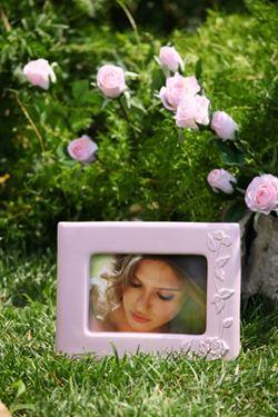 Immagine di Cornice WHITE COLLECTION rosa 22x7x17cm