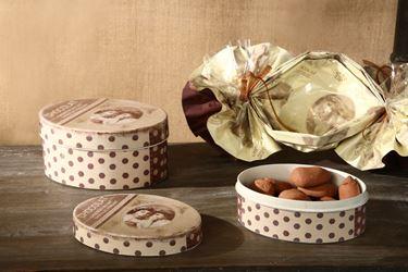 Immagine di S/2 Scatole Chocolat ovali, cm17x13.5xh.8