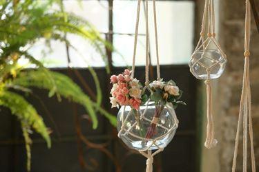 Picture of Sfera vetro con corde, d.12,5xh.12cm