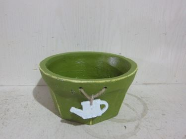 Picture of Ciotola TEA POT, verde scuro  cemento, D20xH10cm