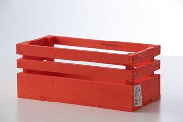 Immagine di Cassetta legno arancio, 24x11xh.11cm