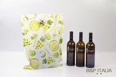 Picture of Shopper 3 bott.,HD,cm37x50h,PROFUMO D'UVA, verde,prof.,c/m fag.100my