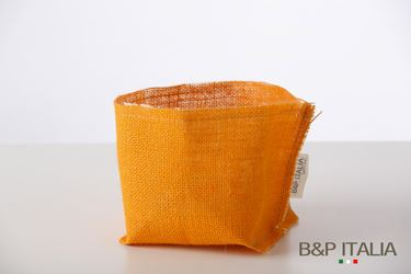 Immagine di SACCOTTINO juta arancio 12x12, PPL interno