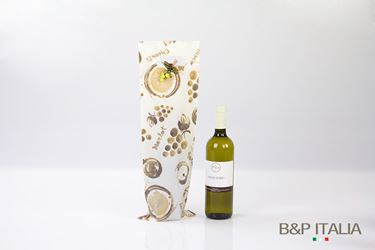 Picture of Shopper 1 bott.,HD,cm16,5x50h,PROFUMO D'UVA, marrone,prof,c/m fag.100my