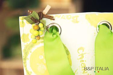 Immagine di Borsa PRESTIGE WINE x1bott,fibra,PROFUMO D'UVA, verde,20,5Xh.39,c/occh