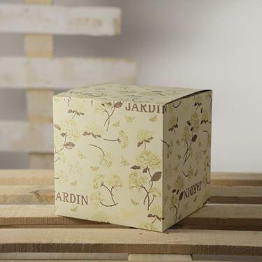 Picture of Box 24x24x24h HYDRANGEA panna/oro steso