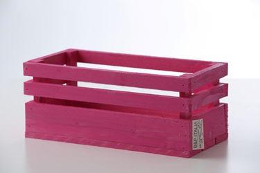 Immagine di Cassetta legno fuxia, 30x15xh.15cm