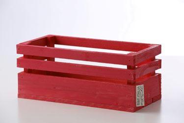 Immagine di Cassetta legno bordeaux, 36x17,5xh.17cm