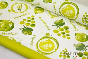 Immagine di Bobina, Perlato, h 100cm, PROFUMO D'UVA, panna/verde, ess.uva