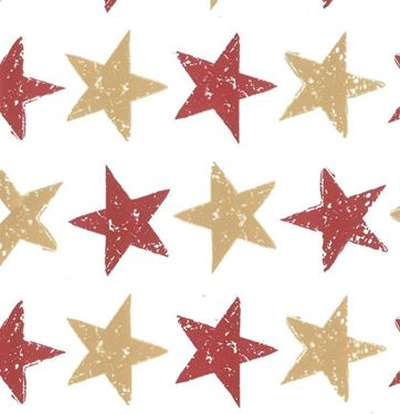 Picture of Box 24,5x24,5x15h, STARS bordeaux/oro, steso