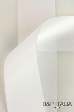 Immagine di Nastro doppio raso TOP h.10mm, 100m BIANCO