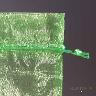 Immagine di Sacchetto ORGANZA cm.16,5x11,4 verde chiaro 20pz