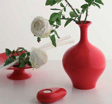 Immagine di Vaso SCOTLAND rosso 23x23xh36.5cm