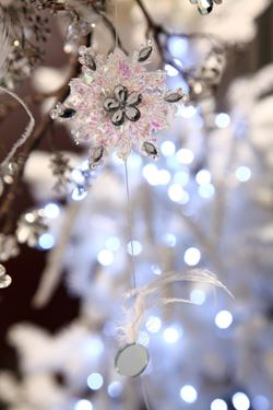 Picture of *Ghirlanda SNOW, h.cm200 piume e specchi