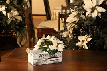 Immagine di Portavaso rett.Sweet Home,bianco, legno/corda,28.5x14.5xH11cm