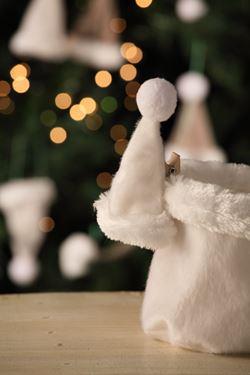 Picture of Clip Cappello animato,bianco, tessuto,D6 H12cm.