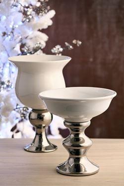 Immagine di Alzata, ceramica e ceramica metal.,  diam.cm26xh.cm27