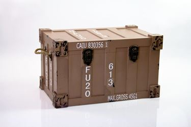 Immagine di Baule container, mdf rivestito, tortora, 52x32xh.31cm