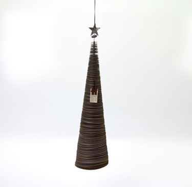 Immagine di Pendente albero, ecosostenibile, grigio, 12xh.49cm