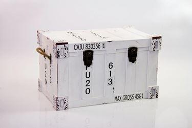 Immagine di Baule container, mdf rivestito, bianco, 52x32xh.31cm