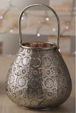Immagine di Portacandela argento, metallo, d.cm.10,5xh.20