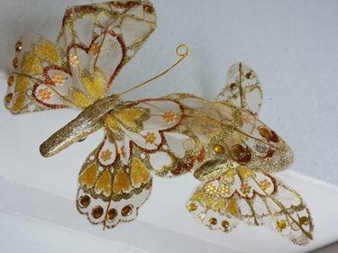 Immagine di Clip farfalla oro,  h.cm17