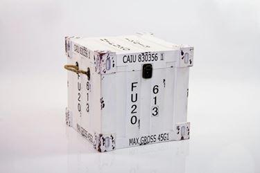 Immagine di S/2 Baule container, mdf rivestito, bianco, 30x30xh.30cm, 25x25xh.25cm