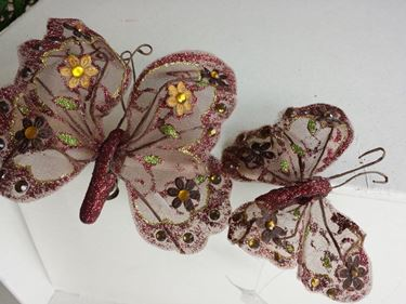 Picture of Clip farfalla marrone,  h.cm17