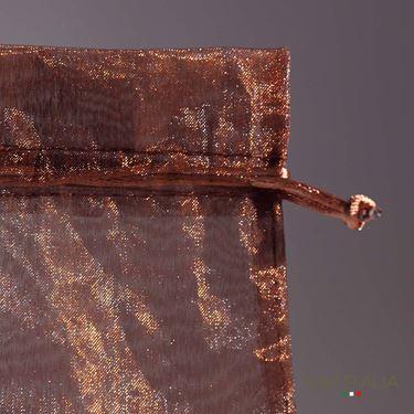 Immagine di Sacchetto ORGANZA cm.7,5x10 marrone