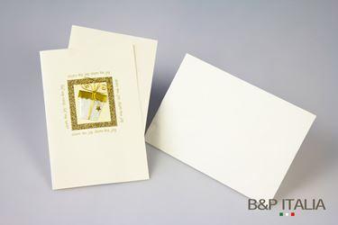 Immagine di Biglietto Secchiello bianco/oro cm 10x15