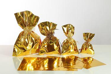 Immagine di Sacchetti cm 20x35h Metall monost. oro lucido