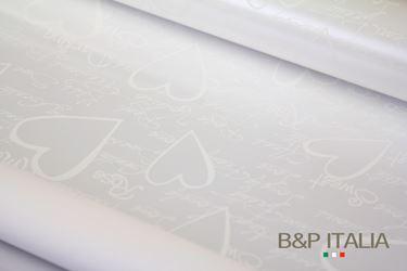 Immagine di Bobina PLB h.80cm , 60m PAROLE D'AMORE bianco