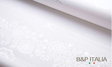 Picture of Bobina, PPM, FLOREAL LACE, bianco, h.100cm