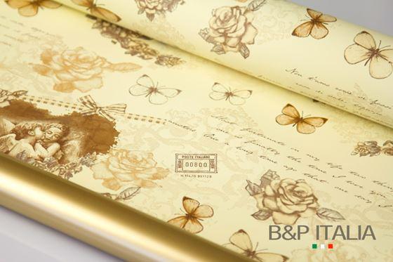 Immagine di Bobina PLB h.cm 100,60m ANGEL'S HEART panna/marrone