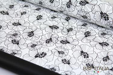 Immagine di Bobina PLB h.cm 100, 60 ml HIBISCUS bianco/nero