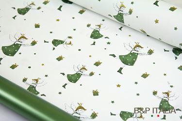Immagine di Bobina PLB h.80cm , 60m PRINCESS verde/oro