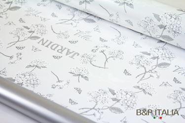 Immagine di Bobina PLB h.cm 100, 60 ml HYDRANGEA grigio/argento