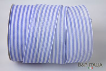 Immagine di Nastro h.40mm, 20m MARINES bianco/bluette