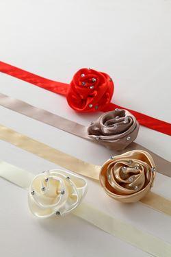 Picture of Chiudipacco rosa e brillantini,rosso, mis.9x9cm,lung.50cm