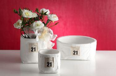 Picture of Contenitore 21 grande quadrato,bianco, porcellana,14x14xH12.5cm