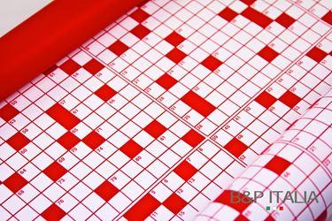 Immagine di Bobina, Perlato,  h.cm100, CRUCIVERBA, bianco/rosso