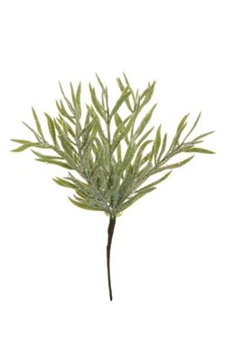 Immagine di Bush x 6 cespuglio verde/grigio invernale innevato, h.35cm