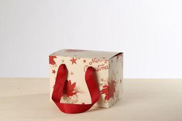 Picture of Box 18x27x20h, STELLA DI NATALE, amaranto, steso